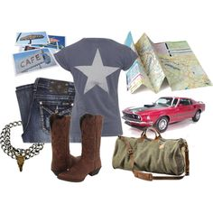 """U.S.A. Road trip"" by thecowgirlwaymagazine on Polyvore"