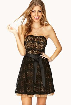 9f42abcff5 Enchanted Lace Cocktail Dress | FOREVER 21 - 2000091890 Cute Black Dress,  Lace Party Dresses