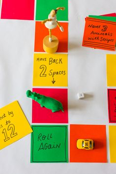 This Table Top Board Game from PBS Parents is completely customizable