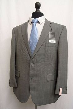 SML-60512N-GRE MENS 2 BUTTON SUPER 150S GRAY DRESS SUIT FLAT FRONT BIG /& TALL