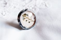 flowers ring forgetmenot  real dried flowers by CreativeStudioML, $32.00