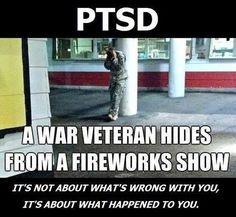 Pinner says;    American Soldiers- PTSD Awareness - these men & women WILL fight you if startled. Be cautious, Be kind, Be alert! Not all who were WOUNDED have a cane, missing limb, or visible scars.