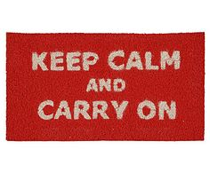 Capacho keep calm and carry on
