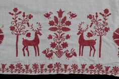 detail oltářní plachty, Slovácko, sběr Augusty Šebestové - Sbírka Vlastivědného muzea v Olomouci