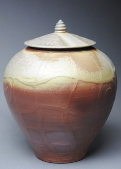 Clay Covered Jar Wood Fired Ginger Jar K16 by JohnMcCoyPottery, $145.00. www.etsy.com/shop/JohnMcCoyPottery