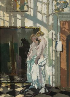dappledwithshadow: William Orpen - Model in a Mirror -