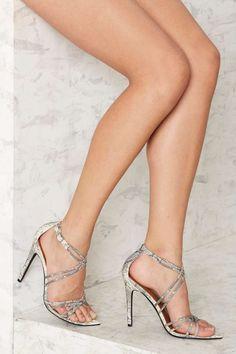 Nasty Gal Santana Strappy Heel - Snake | Shop Shoes at Nasty Gal!