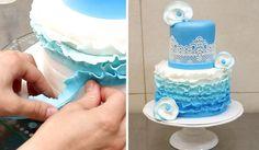 Simple Ruffle Cake by CakesStepbyStep