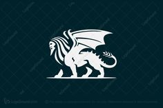 Logo for sale: Manticore Logo by Camo Creative, uploaded on Mythological creature Manticore logo icon perfect for any corporate or creative company. Layout Design, Logo Design, Manticore, Creative Company, Great Logos, Mythological Creatures, Mythology, Monsters, Sci Fi
