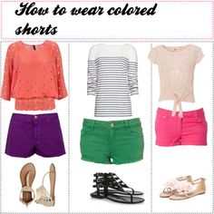 candy coloured shorts!