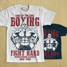 Boxing t shirt design vector tshirt design on T Shirt Design Vector, Shirt Designs, Logo Design, Teen Boxing, Boxing Shirts, Illustrator Cs5, Screen Printing, Prints, Mens Tops