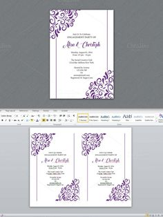 Engagement Party Invitation Template. Wedding Fonts. $6.00