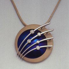 Southern Cross Pendant. Custom designed by Lawrence Sanders Jewellers, in Sydney since 1911.
