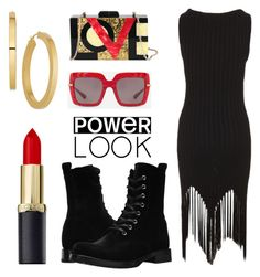 """""""love power"""" by aniadratwicka on Polyvore featuring Frye, Moschino, Diophy, Dolce&Gabbana, girlpower and powerlook"""