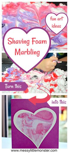 Marbled Heart Craft