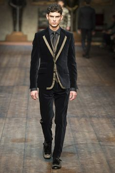 Velvet swagger in Dolce & Gabbana (A/W '14)