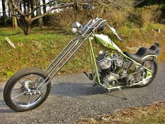 Nice chopper with long front end and king and queens seats.