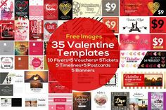nice 35 Valentines Day Templates CreativeWork247 - Fonts, Graphics, Themes,...