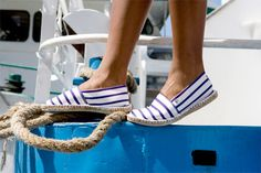 Espadrilles are so comfy! And stripes are so nautical!