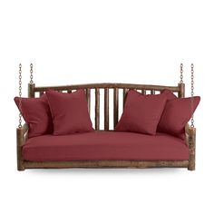Rustic porch swings by La Lune Collection are designer quality, hand-crafted furniture made in the USA. Rustic Chair, Rustic Furniture, Cool Furniture, Furniture Design, Outdoor Furniture, Hanging Beds, Home Porch, Furniture Making, Porch Swings