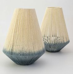 Janie Knitted Textiles - Indigo dyed lighting Lighting Design, Lamp Design, Home Lighting, Outdoor Lighting, Lamp Light, Light Fixtures, Light Fittings, Luz Artificial, Handmade Lamps