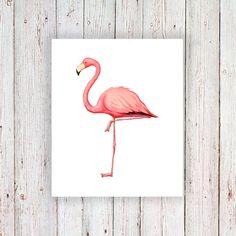 Flamingo temporary tattoo / flamingo tattoo / by Tattoorary
