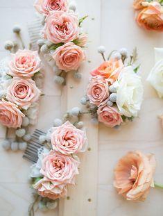 Гребень заколка с живыми цветами (Diy)