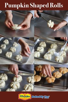 Rhodes Pumpkin Shaped Rolls are the cutest carbs ever! Using Rhodes frozen yeast dough, they are easy to prepare and taste amazing! Rhodes Roll and Bread Dough is available now in your grocers freezer. Thanksgiving Snacks, Thanksgiving Traditions, Thanksgiving 2020, Fall Recipes, Holiday Recipes, Turkey Time, Biscuit Recipe, Dinner Rolls, Charcuterie