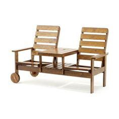Stereo Dubbelfåtölj Naturfärgad | TheHome.se Outdoor Chairs, Outdoor Furniture Sets, Outdoor Decor, Home Decor, Decoration Home, Room Decor, Garden Chairs, Home Interior Design, Home Decoration
