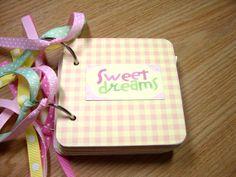 Baby Girl Premade Mini Scrapbook Album Baby Girl by HampshireRose, $30.00