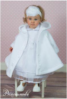 Gracia - Taufkleid inkl. MANTEL mit Zipfelkapuze - Princessmoda - Alles für Taufe Kommunion und festliche Anlässe