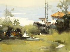 【Practice for one hour / 1小時的練習】Watercolor by Jasmine Huang 27cm x 36cm 2017