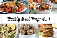 Weekly Meal Prep Menu: No.1 | The Real Food Dietitians | http://therealfoodrds.com/weekly-meal-prep-menu-no-1/