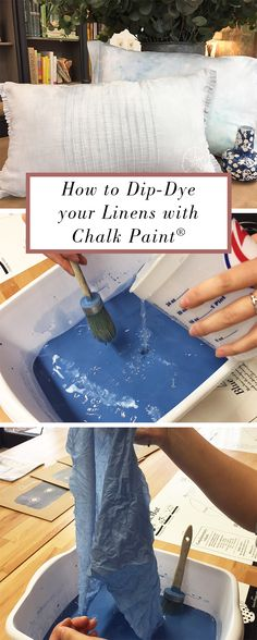 Did you know you can dip-dye your linens and fabrics with Chalk Paint® by Annie Sloan? For a complete how-to, head over to our blog.