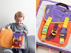 This is one of my favorite wuka squares! My toddler twins can stay busy buckling and unbuckling Pack-it-In forever! I swear that buckles were originally invented to keep kids busy for hours! Thank you to Sweet Little Peanut for there review of wuka and this great pic! http://sweetlittlepeanut.com/products-we-love/wuka-quiet-book-products-we-love/