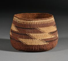 Northern California Twined Basketry Bowl | Sale Number 2533B, Lot Number 647 | Skinner Auctioneers