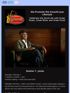 Booker T. Jones at Yoshi's Jazz Club, Oakland, CA on February 7, 2015