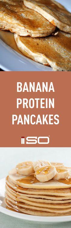 Banana Protein Pancakes. Healthy Breakfast. Guilt-free.