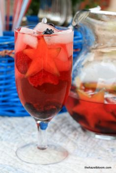 """This drink is called """"Fourth of July Sangria"""" but why not test it out this weekend and just call it Memorial Day Sangria?"""""""