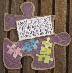 A pussle card by DT Carro  http://blog.pysseldags.com/2011/07/livets-pussel_11.html http://shop.pysseldags.se