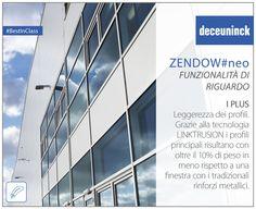I plus di Zendow#neo 4: Leggerezza dei profili Grazie alla tecnologia Linktrusion i serramenti Zendow#neo sono oltre il 10% più leggeri rispetto a una finestra con i tradizionali rinforzi metallici.   #Deceuninck #plus #BestInClass #Thermofibra