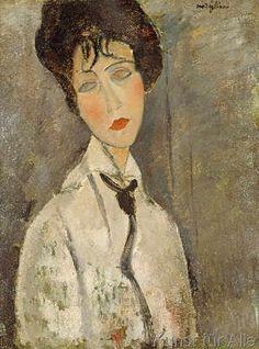 Amedeo Modigliani - La femme à la cravatte noir
