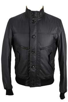 Stay warm outside with this solid black cotton blend jacket made by Hogan and heavily discounted from the retail price. We take all our own photos to present you with realistic and vivid detail. All items are hand-measured with body measurements to ensure a perfect fit. Chest: 16 | Overarm: 17