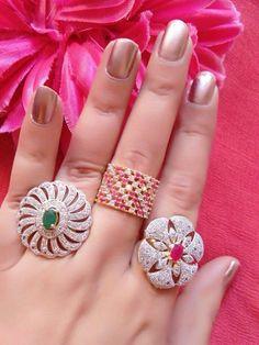 Stone Rings, Stone Jewelry, Jewelry Rings, Jewelery, Girls Jewelry, Bridal Jewelry, Gold Diamond Rings, Diamond Jewelry, Luxury Engagement Rings