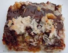 Absolutely Magical Cookie Bars - can you believe that these are low carb? Seems to good to be true, but it's not! https://www.facebook.com/lowcarbtestkitchen #MissFitGear
