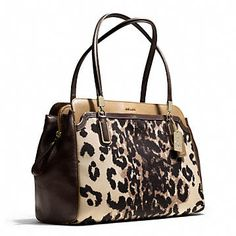 Coach :: MADISON KIMBERLY CARRYALL IN OCELOT PRINT FABRIC