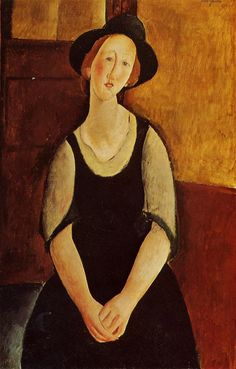 Amedeo Modigliani. Thora Klinckowstrom, 1919. Óleo sobre lienzo. Colección privada. WikiPaintings.org - the encyclopedia of painting