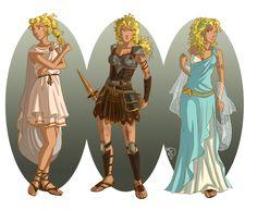 Annabeth in traditional Greek clothes
