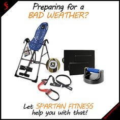 Don't let the bad weather stop you. See what we have for you: http://www.spartanfitness.ca/products/home/ #FitnessMotivation
