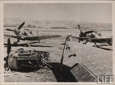 Captured Me-109s in Italy (D. Sheley)